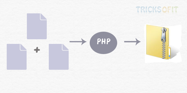 How to create a zip file in php