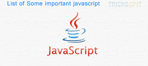 List of Some important javascript functions