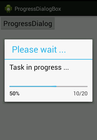 Progress Dialog Box Bar Style In Android