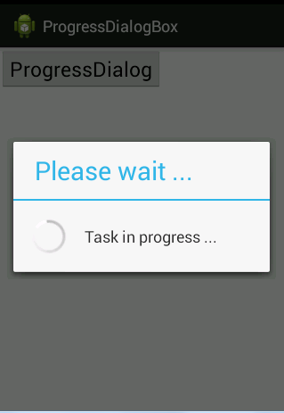 Progress Dialog Box In Android