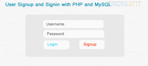User Signup and Signin with PHP and MySQL
