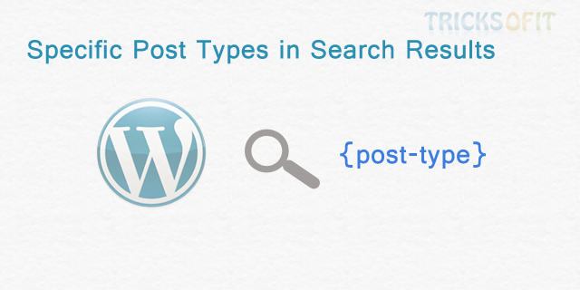 Specific Post Types in Search Results