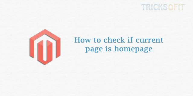 How to check if current page is homepage