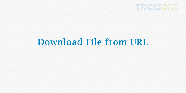 Download File from URL