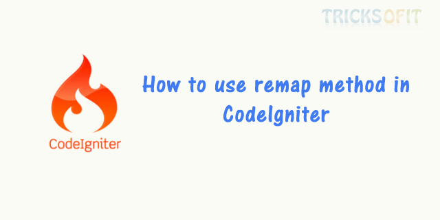 How to use remap method in CodeIgniter